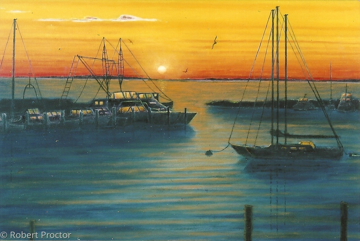Manemsha Harbor at Sunset (large view)