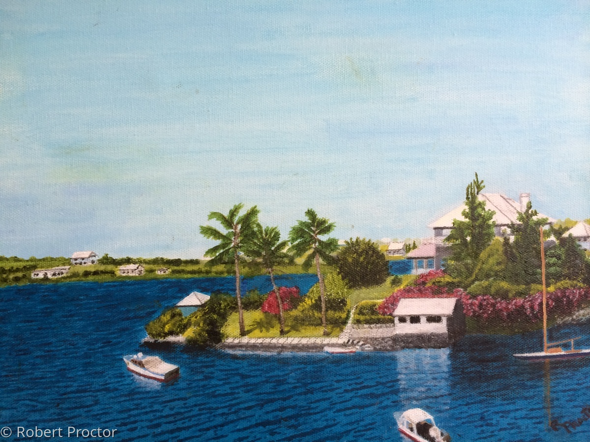 House on Bermuda shore (large view)