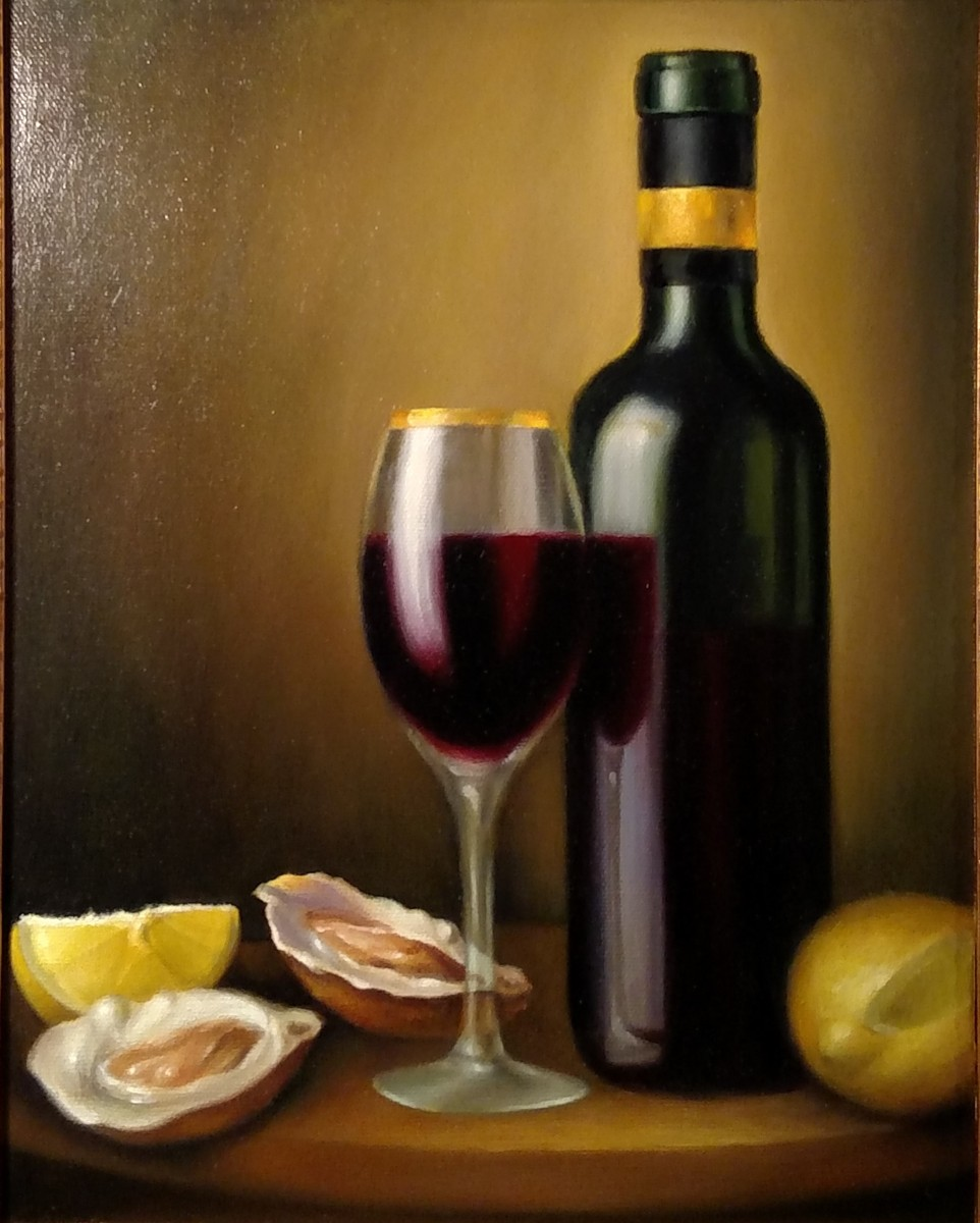 Still Life with Wine and Oysters (large view)