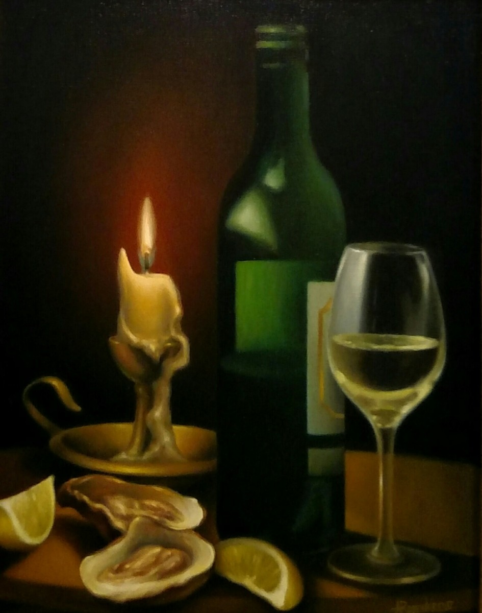 Still Life with Wine and Oysters II (large view)