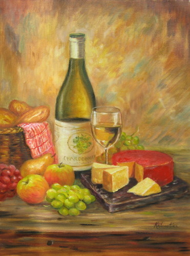 Tuscany Table w/cheese and fruit (large view)