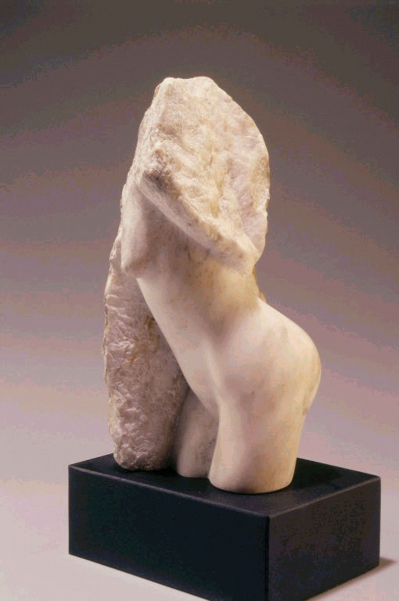 Alabaster Sculpture with Granite Base (large view)