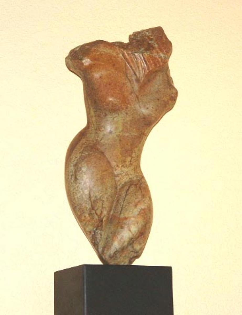 Brazilian Steatite Sculpture with Granite Base (large view)