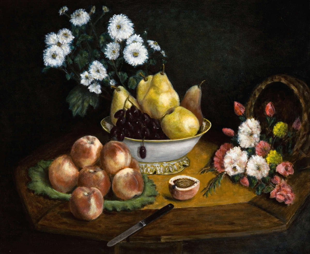 Old Master with fruit and Flowers (large view)