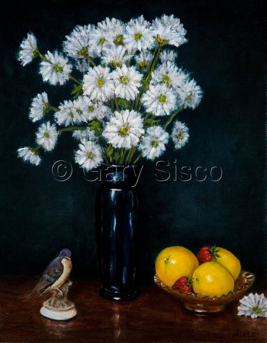 Still life with Daisies and Oranges (large view)