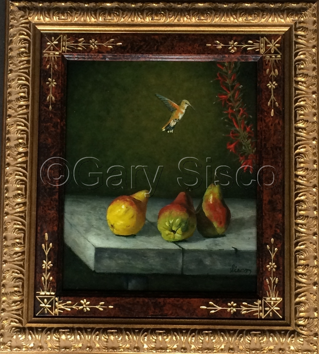 Humingbird and Pears (large view)