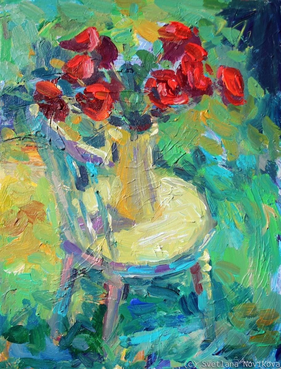 Sunny Impressionistic floral painting Svetlana Novikova (large view)