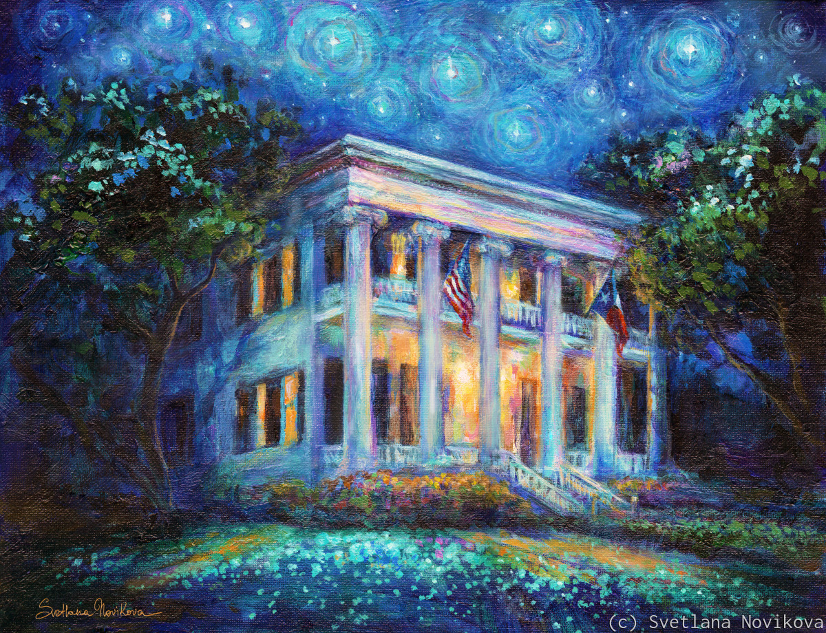 Texas Governors Mansion painting (large view)