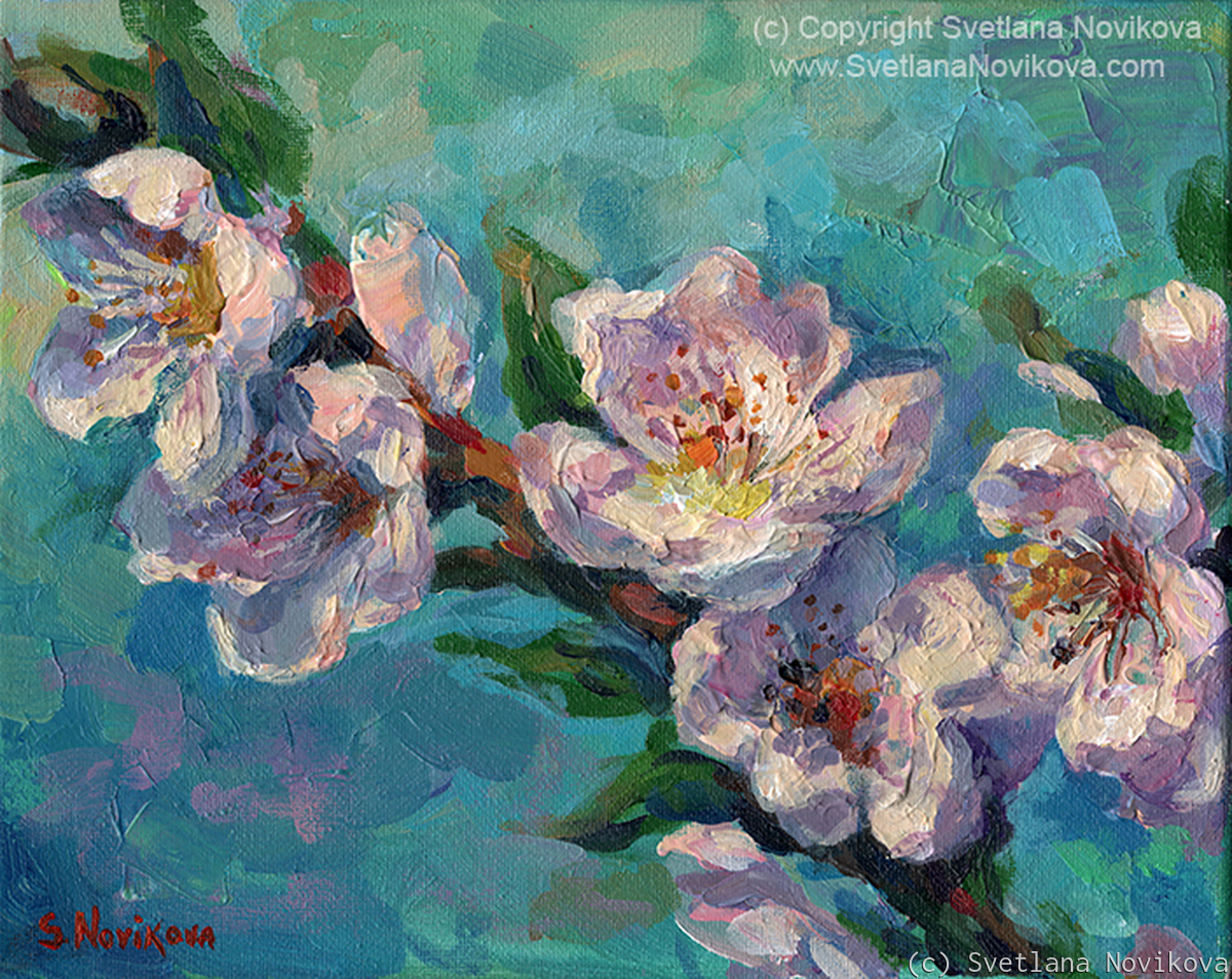 Peach Blossoms painting (large view)