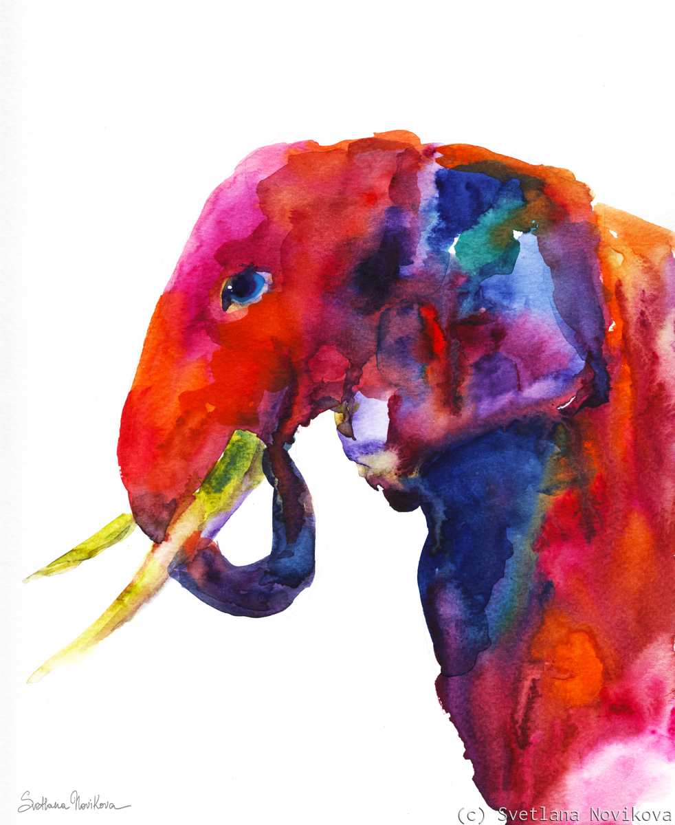 Contemporary Elephant painting (large view)