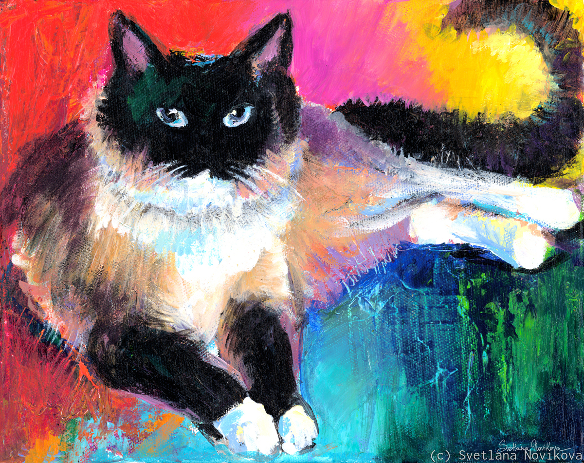 Ragdoll Cat painting (large view)