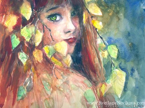 Forest Fairy Portrait (large view)