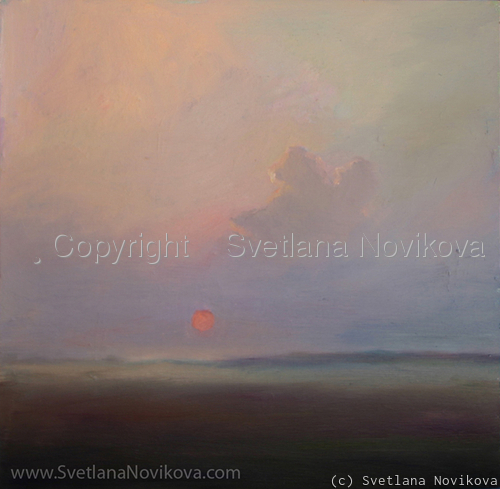 Sunset landscape Svetlana Novikova (large view)