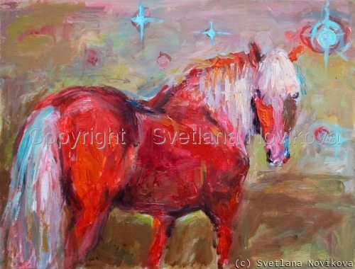 Contemporary Horse painting (large view)