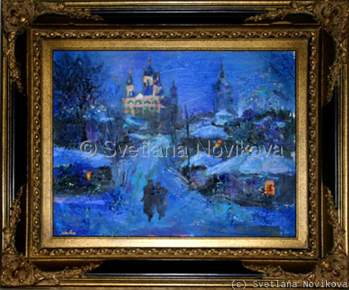 "Russian ""winter nights"" painting (large view)"