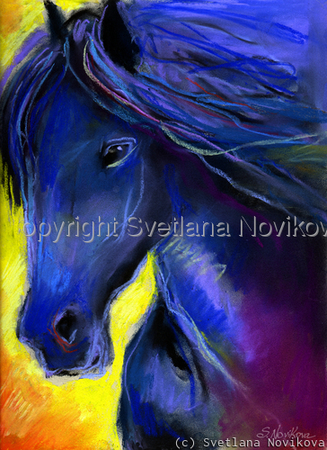 Friesian Horse #2 painting Giclee print (large view)
