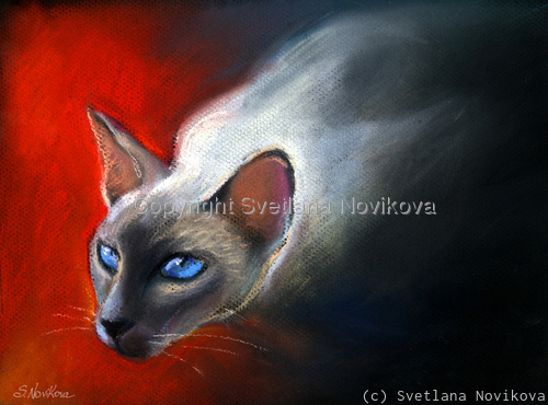 siamese cat # 7 painting Giclee print (large view)