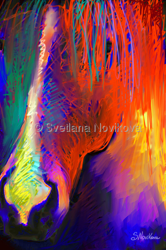 Bright Mustang horse Giclee Print (large view)