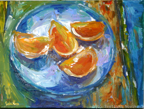 oranges fruit still life (large view)