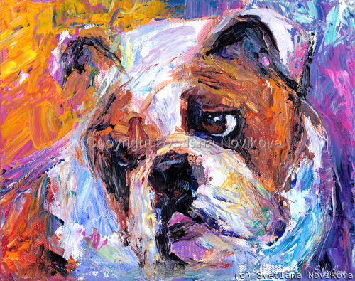 Bulldog # 2 painting Giclee Print (large view)