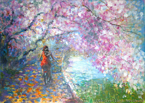 Blossom Alley painting (large view)