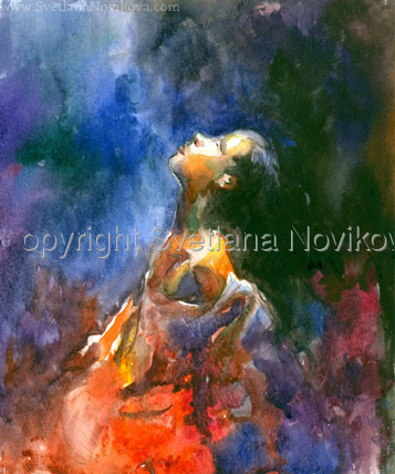 watercolor painting of a woman by svetlana novikova (large view)