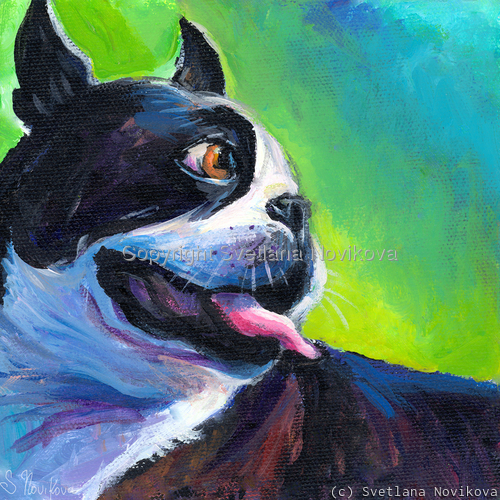 Boston Terrier # 4 painting Giclee Print (large view)