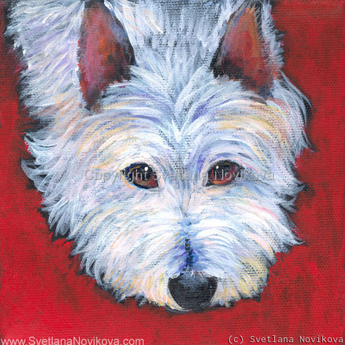 Westie dog art (large view)