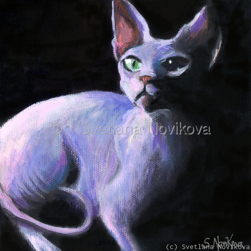 Sphynx Cat # 9 painting Giclee Print (large view)
