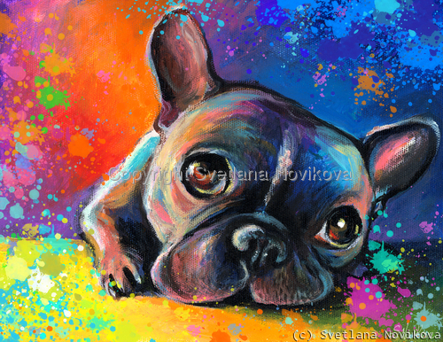 French Bulldog # 3 painting Giclee Print (large view)