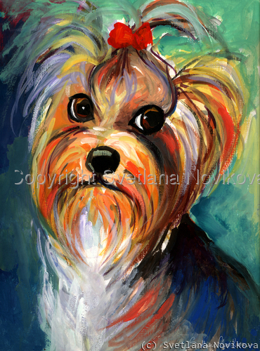 Yorkshire Terrier painting Giclee Print (large view)