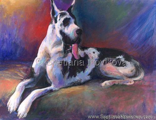 Great Dane # 3 Painting (large view)