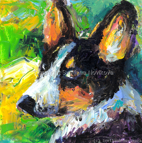 Corgi Dog #1 painting Giclee Print (large view)