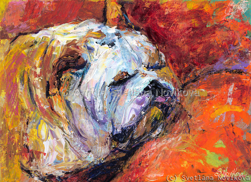 Bulldog Painting #4 painting Giclee Print (large view)