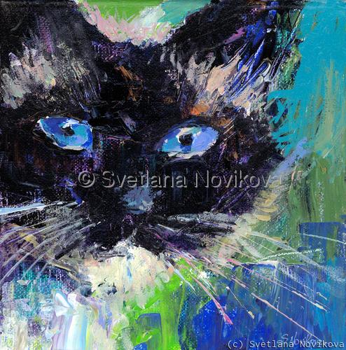 Ragdoll cat painting Svetlana Novikova (large view)