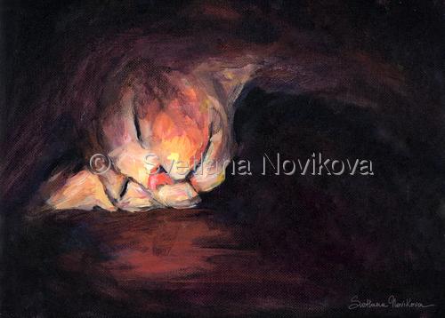 sphynx cat sleeping painting print Svetlana Novikova (large view)
