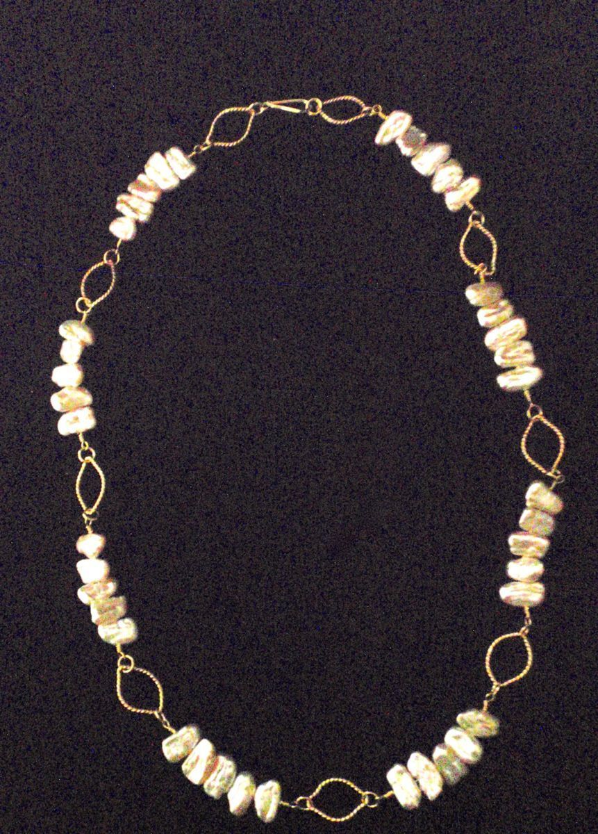 411- MN Peach Keishi Pearls, Gold Filled (large view)