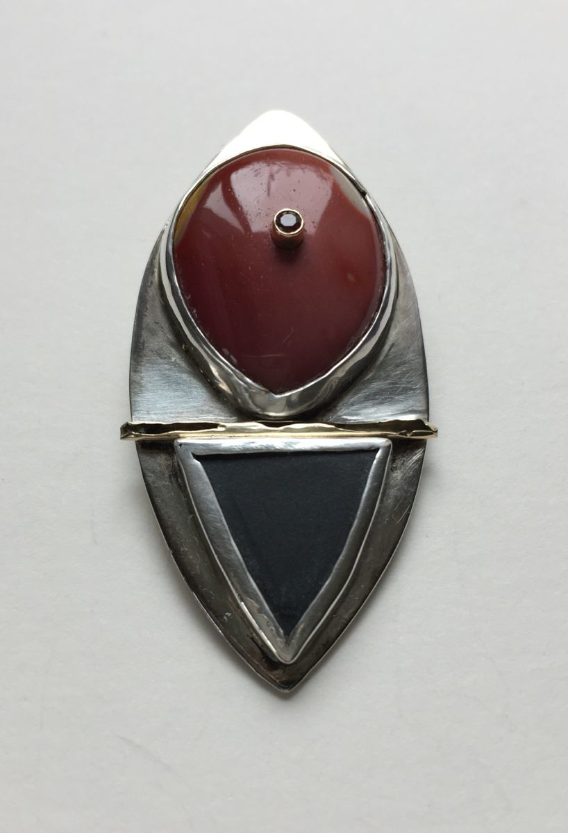 MP -53 Mookite, Garnet, Slate, 14Kt Gold, Silver (large view)