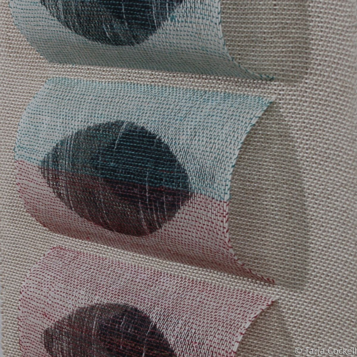 Detail of a dimensional weave (large view)