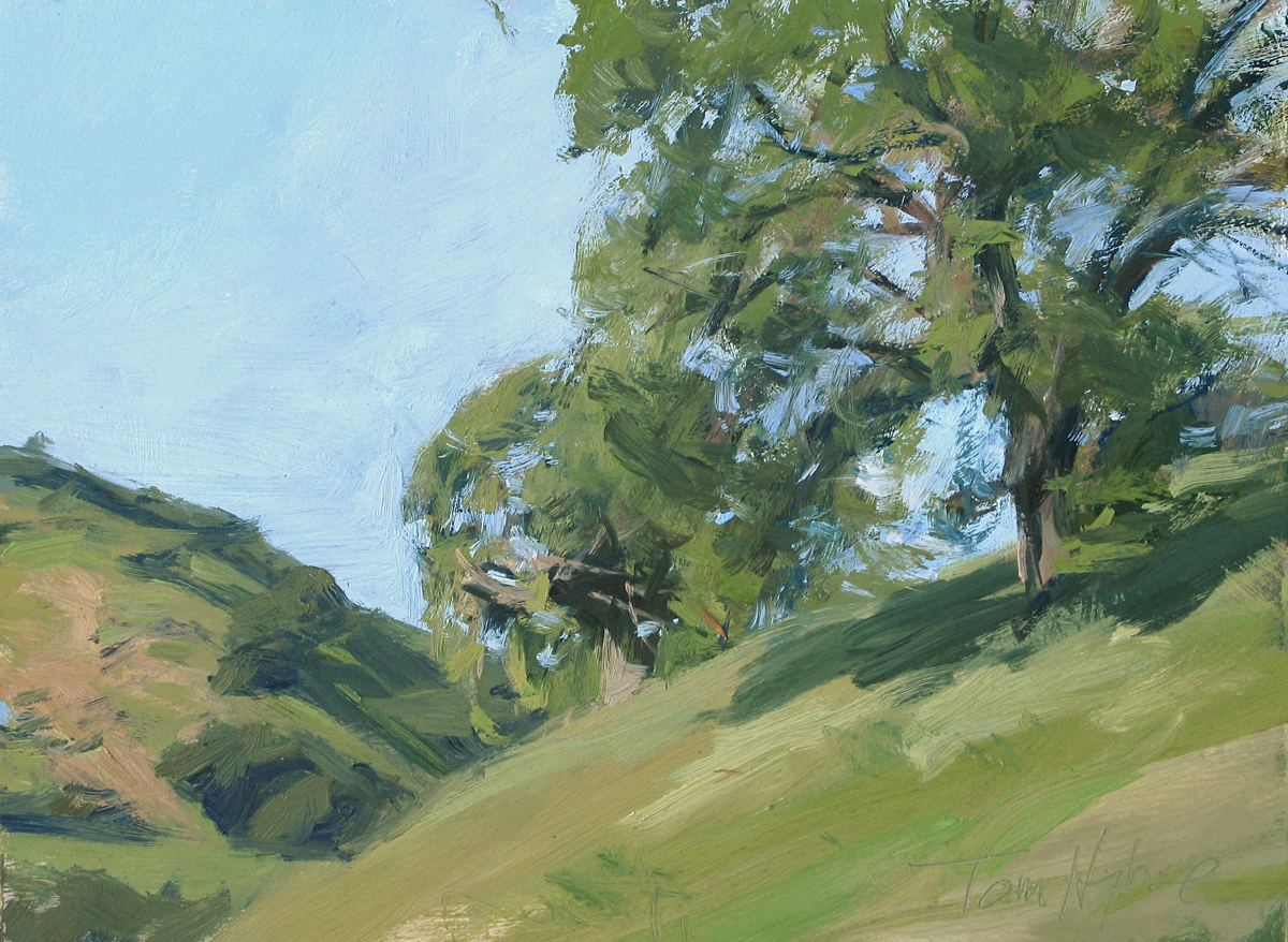 Oak and hills (large view)