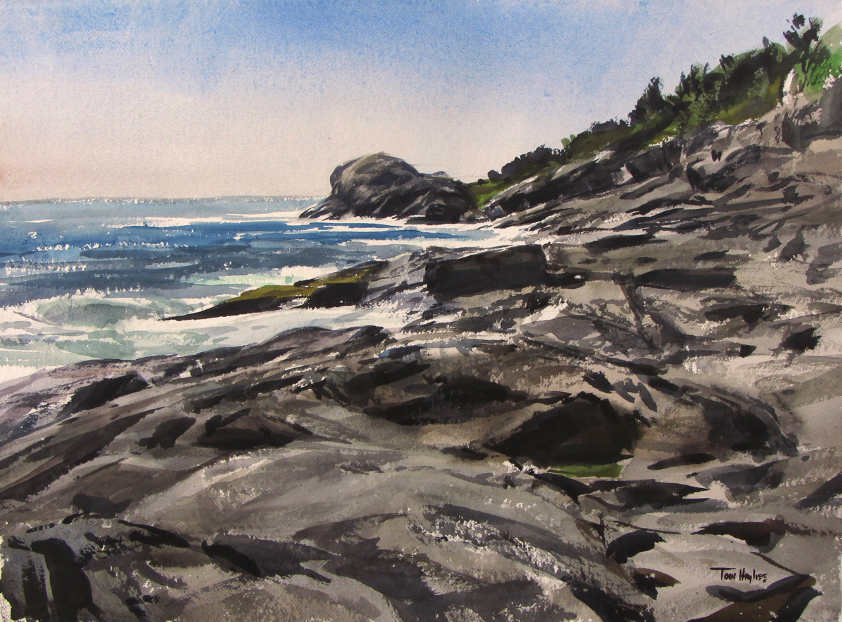 View of Gull Rock, Monhegan (large view)