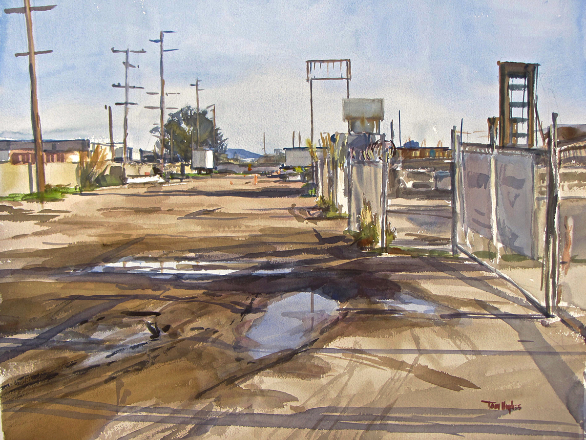 Puddles, Tidewater Ave (large view)