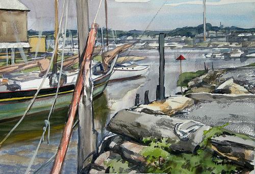 Essex boatyard (large view)