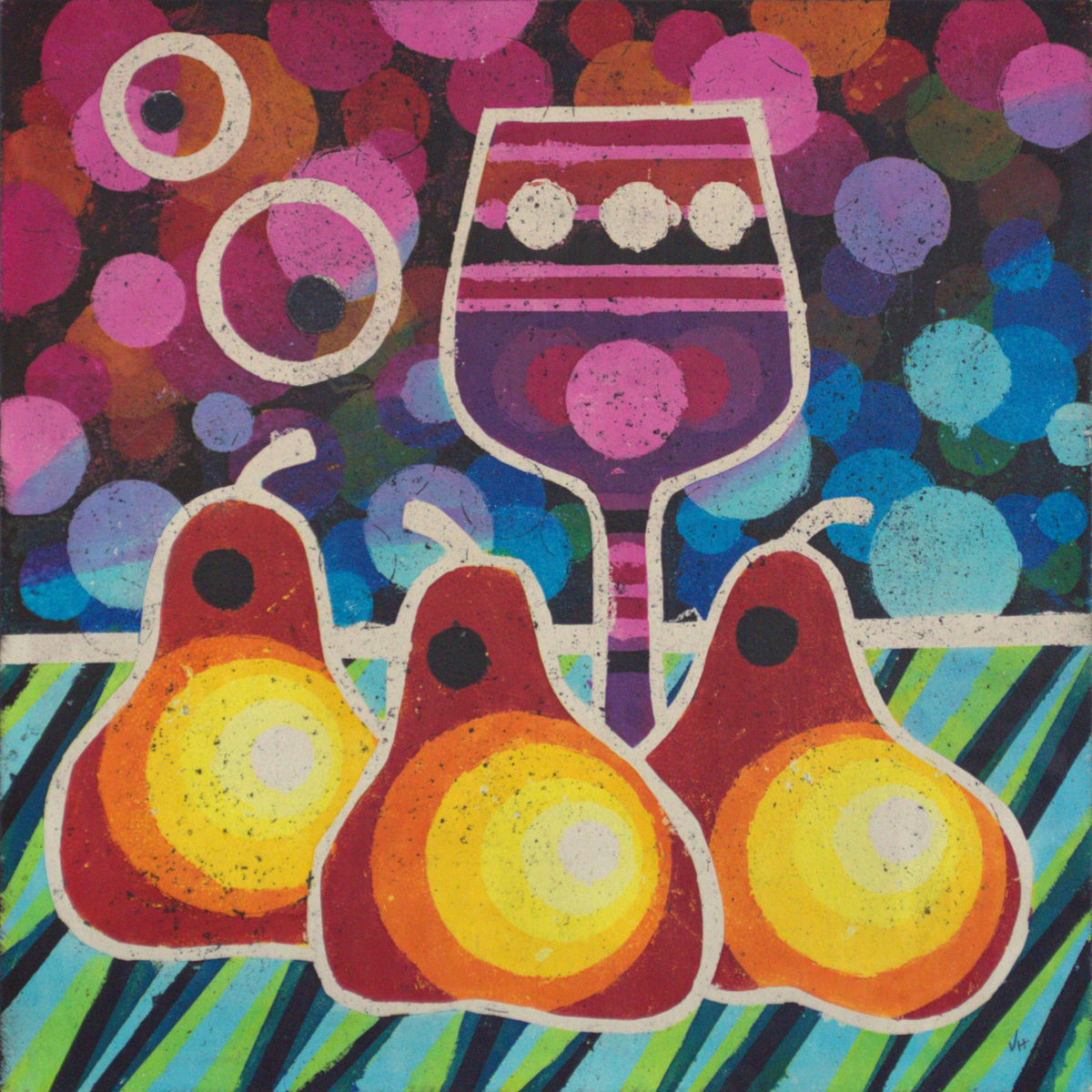 Wine & Pears 12 by Valerie Hildebrand (large view)