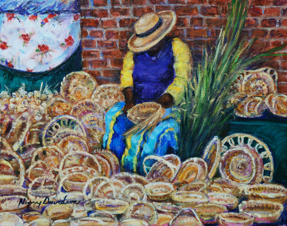 Sweetgrass Basket Lady (large view)
