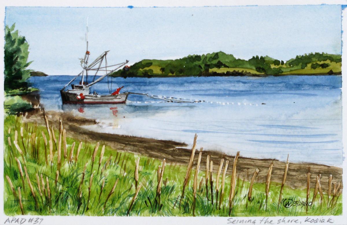 Seining the shore, Kodiak (large view)