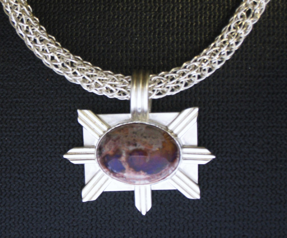 'Sol' Pendant and Necklace  (large view)